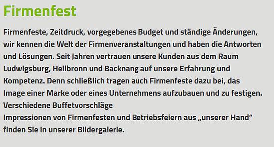 Auswahl von Buffets bei  Korntal-Münchingen